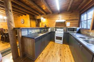 A kitchen or kitchenette at Springbrook Mountain Chalets