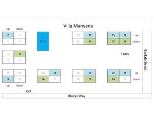 The floor plan of Blueys Beach Villa - Villa Manyana Unit 22