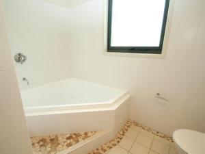 A bathroom at Boom 3