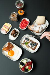 Breakfast options available to guests at Hotel Riga