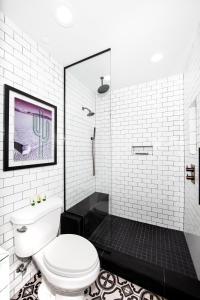 A bathroom at El Cortez Hotel & Casino