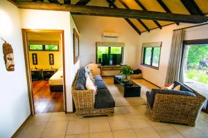 A seating area at Qamea Resort & Spa