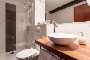 Ein Badezimmer in der Unterkunft Halberstädter Hof