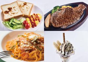 Food at or somewhere near the love hotel