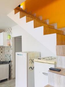 A kitchen or kitchenette at Praia dourada