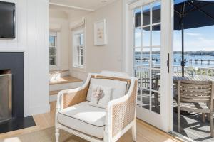 A seating area at Harborview Nantucket