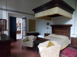 Area soggiorno di Bed and Breakfast di Charme La Bonarella