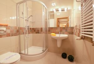 A bathroom at Józefina Apartments