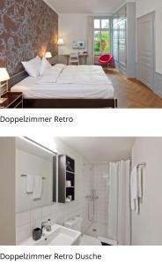 Ein Badezimmer in der Unterkunft Boutique-Hotel Auberge Langenthal