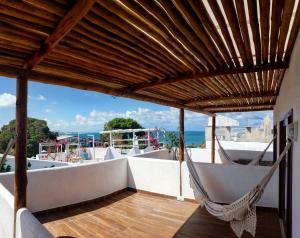 Uma varanda ou terraço em Pousada Mediterrânea