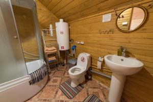 A bathroom at PHILOXENIA - Olkhon - FAMILY HOUSE