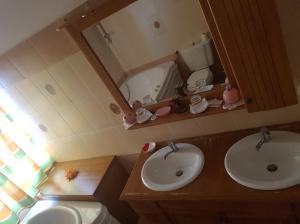 A bathroom at Hotel Etrusco