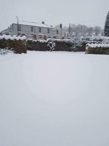 White Hart Inn during the winter
