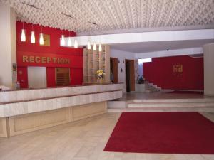 The lobby or reception area at Hotel Dambovita