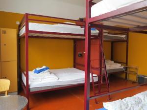 Ein Etagenbett oder Etagenbetten in einem Zimmer der Unterkunft Basel Backpack