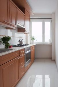 Kuchyň nebo kuchyňský kout v ubytování City Center - Smolna Apartament