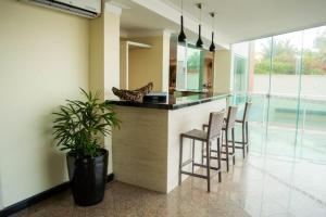 The lobby or reception area at Calhau Praia Hotel