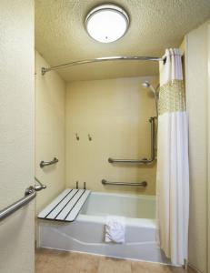A bathroom at Hampton Inn I-10 & College Drive