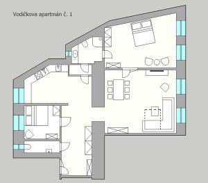 The floor plan of Apartment Vodičkova 11