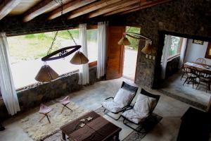A seating area at Casa de Piedra