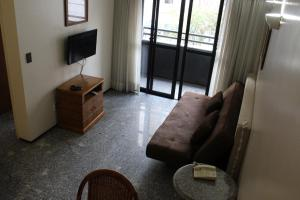 A seating area at Flat Abolicao