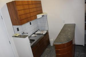 A kitchen or kitchenette at Flat Abolicao