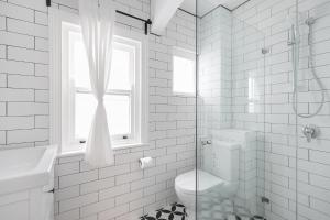 A bathroom at Walk everywhere in the city from a historic home