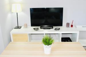 Una televisión o centro de entretenimiento en Resitur 709