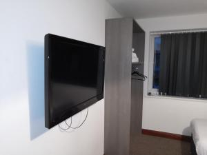 A television and/or entertainment center at Kirks Korner Motel
