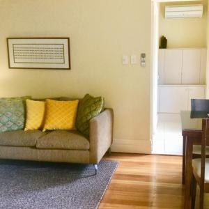 A seating area at The Woodbridge Tasmania