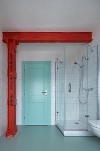 Ein Badezimmer in der Unterkunft Pivovar Trautenberk