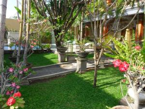 A garden outside Puri Anom Guest House