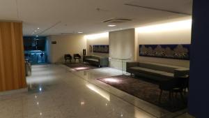 The lobby or reception area at Flat Acolhedor 2 Qtos Boa Viagem