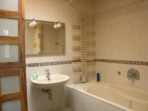 Ein Badezimmer in der Unterkunft Ferienwohnung Tollert