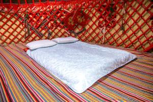 A bed or beds in a room at Jaichy Yurt Camp