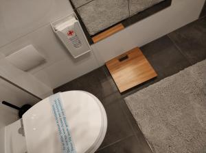 A bathroom at Belvárosi Apartmanszálló - Kiskunfélegyháza