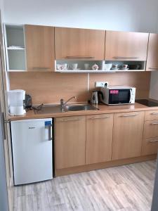 Kuchyň nebo kuchyňský kout v ubytování Apartmány Dagmar