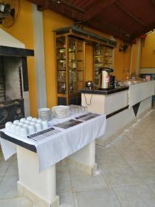 A kitchen or kitchenette at Dorado Hotel