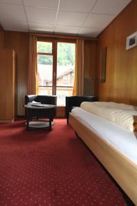 Een zitgedeelte bij Hotel Staubbach