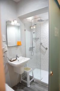 A bathroom at British Hotel