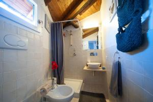 Koupelna v ubytování Navona Friend's Home