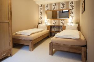 Ein Bett oder Betten in einem Zimmer der Unterkunft FW Rheinblick