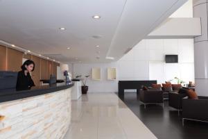The lobby or reception area at Miracle Suvarnabhumi Airport