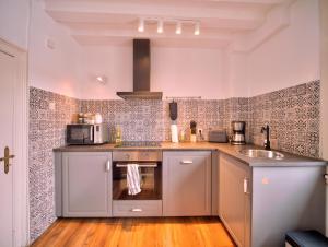 Küche/Küchenzeile in der Unterkunft Haus Stehlings