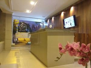 El vestíbulo o zona de recepción de Hotel San Miguel Imperial