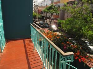 A balcony or terrace at La Casona Azul