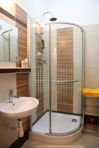 Kúpeľňa v ubytovaní Apartmán Moyzesova