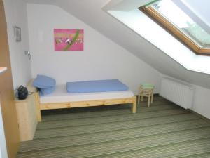 A seating area at Ferienwohnungen Federleicht