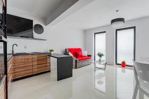 Kuchnia lub aneks kuchenny w obiekcie Apartamenty Bałtyckie - Bulwar Portowy