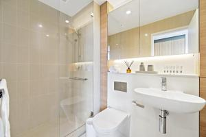 A bathroom at Modern, Ultra clean in the Heart of convenience